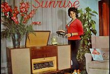 Vintage radios/stereo cabinets/record players / Board full / by Diane Johnson