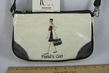 Vintage girls handbag and accessories / Vintage child's handbag/luggage  / by Diane Yacopino