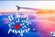 Frases de Viaje / ¿Amás viajar? Estas frases te harán sentir identificado. Sé un viajero con #Despegar.