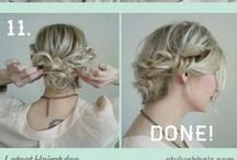 Hairstyles / Easy ways to style hair. Great for moms.