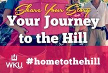 #HomeToTheHill / Share your journey to campus!  Are you shopping for your residence hall, working out some dorm room life hacks?  Packing, loading the car, hugging your folks goodbye?  Share your photos and videos with us on Twitter, Instagram, Facebook and Pinterest #HomeToTheHill #WKU18 #WKU / by WKU