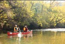 The Dan River - Autumn 2014 / Kayaking on the Dan River in Eden, North Carolina in October 2014.