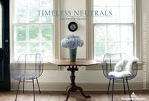 Timeless Neutrals / It's time for timeless. Polished ebony floors. Ironed linen sheets. Rustic farm tables. The Benjamin Moore collection of neutrals never gets weary. They're an atmospheric and inviting choice—subtle, nuanced colors for any time, every space.