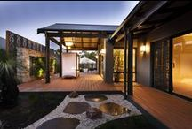 The Karridale Retreat / Australian in nature. Luxurious in design.  Soaring gable windows bathe the Karridale's living and entertaining spaces in natural light. The home's summer room cascades out onto the cool verandas and expansive alfresco deck, while the intimate winter room embraces a central fireplace. A cosy den, expansive master suite and separate children's activity provide room for individuals to escape the hubbub of the home.