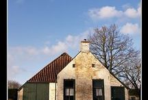 Friesland boerderijen / old and new farm houses in Friesland province, Netherlands