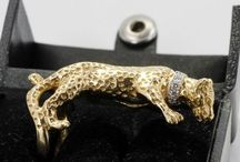 Leopard Jewelry Creations / Beautiful 14kt and 18kt Gold Leopard Jewelry pieces I created for Wildlife lovers