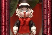 My works - Clown cold porcelain
