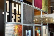 Trespa Design Centre in Weert / The showroom at Trespa International's headquarters in Weert, The Netherlands.