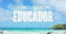 Things To Do   In Ecuador / From the incredible sights of the Galapagos and Amazon, to the awesome adventures in Banos. Here's all the inspiration you need to travel Ecuador // Ecuador travel, Banos travel, The Galapagos travel, Banos travel / Things to do in Ecuador travel / Ecuador swing / Ecuador travel galapagos / Ecuadorian food / Ecuador travel places to visit / Ecuador travel tips / Ecuador travel packing lists / Solo travel, Backpacker, Wanderlust, travel blogger, travel pics, Where to go in Ecuador