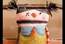Créatures textiles ou mixed media