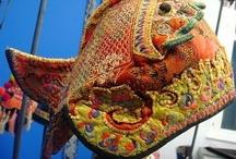 Création textile - Accessoires / Echarpes Chapeaux Chaussures Gants...