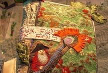 Journal textile - fabric journal / Art textile  : journaux, livres, carnets, pages... Fabric art : journals, books, pages...