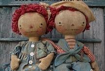 "Poupées chiffon - Rag dolls / I love rag dolls and dolls we call ""poupées de chiffon"" in french"