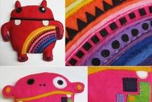 Doudou monstre ou rigolo - Patterns and pics - Monster softies /  Des formes à customiser, des modèles avec patrons et tutos et des exemples (sans tutos) pour l'inspiration !