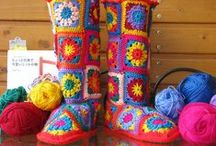 Crochet : Anti froid 1 ! To be warm 1 ! mitaines - chaussettes - pantoufles  es