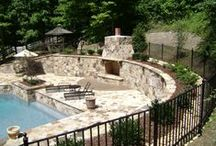 Fire Places and Fire Pit Designs / Collection of fireplace and fire pit designed and built by Promier Landscapes.