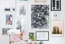 W A L L A R T / the displays i want on my flat walls with photos and illustrations