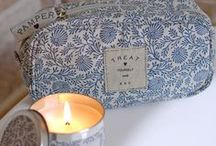 Spa Collection - 2014 / A new collection from Shruti Designs featuring washbags, make up purses and beautifully scented candles