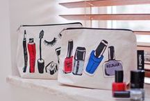 British Designed makeup bags / Designed with British Designer Casey Rogers, our new collection of makeup purses have an 'urban edge' to them