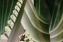A.D. / Art Deco inspiration in paintings, prints, style, decor and architecture