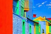 Multicolore : Maisons, portes, bâtiments.../ Houses,Doors Buildings