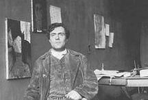 Amedeo Modigliani (1884-1920) / né le 12 juillet 1884 à Libourne (Italie) mort le 24 janvier 1920 à Paris. peintre et sculpteur de l'école de Paris, figure marquant de Montparnasse du début du XXème siècle / by éric imbert