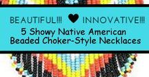 Vintage  Native American Beaded Fringe Necklaces, beaded necklaces, other fringed necklaces / These gorgeous beaded  fringe necklaces are awesome! I'm a bit too old to wear these kinds of necklaces now, but that doesn't stop me from collecting them lol