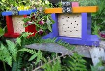 Bee Homes / Craftiness leads to really cool houses for mason #bees.
