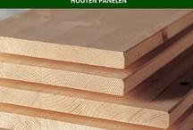 Vurenhouten panelen. / Vuren houten panelen  Lengtes: 200-250 cm  Diktes: 10-18-28 mm  Breedtes: 20-30-40-50-60 cm  www.desplinter.nl