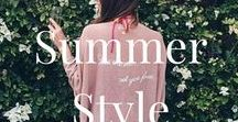 Women's- Summer Style / Bare shoulders and light layers are perfect under the sizzling Summer sun