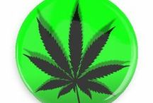 Psychedelic Herbs Buttons / Funny Buttons - Custom Buttons - Promotional Badges - Herbs Pins - Wacky Buttons