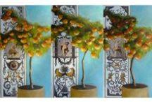 Artiste peintre, ISABELLE DELANNOY / Dans son atelier, Isabelle Delannoy poursuit une œuvre déjà riche, servie par une volonté créatrice, exigeante et généreuse. La couleur est au centre de ses préoccupations. L'artiste travaille à partir d'une palette restreinte qu'elle compose de pigments naturels, déclinés jusqu'à l'harmonie désirée, conférant à sa peinture sobre et vigoureuse une ambiance très personnelle.