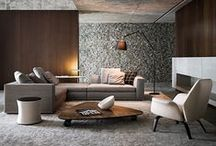 Modern Interiors / Contemporary interior spaces [homes, flats, condos, apartments, buildings, yachts, airplanes, trains, etc].