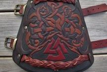 VIKING LEATHERWORK / Some of our leather craft available at www.grimfrost.com