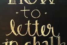 Chalkboard Fonts / All things related to typography for chalk boards