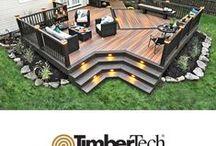 Decks and Decking Ideas / Tum-A-Lum offers decking materials that work with any landscape. Cedar, Composite, Trex, TimberTech, Redwood.