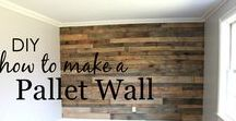 Pallet Projects / DIY ideas for building with pallets, upcycling pallets into useable furniture, home décor, building, and outdoors.