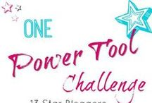 Power Tool Challenge / A monthly power tool challenge where a group of female DIY Bloggers come together to build a project using a power tool(s).  The aim is to inspire other women to create simple projects using a power tool.