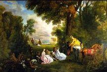 Антуан Ватто (Antoine Watteau, Jean-Antoine Watteau) / Jean-Antoine Watteau better known as Antoine Watteau  (10.10.1684, Valenciennes — 18.07.1721, Nogent-sur-Marne) is a major French painter of the first third of the XVIII century, whose work was a prologue to the European Rococo style. Жан-Антуа́н Ватто́, более известный как  Антуа́н Ватто́ (фр. Jean-Antoine Watteau, 10.10.1684, Валансьен — 18.07.1721, Ножан-сюр-Марн) — крупнейший французский живописец первой трети XVIII века, чье творчество стало прологом общеевропейского стиля рококо.