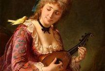 Играющие на мандолине  (Playing the mandolin) / Musical instruments in the painting. Mandolin.  Play the mandolin. The people playing the mandolin. The man and the  mandolin. (Not fantasy !!!) Музыкальные инструменты в живописи. Мандолина. Играть на мандолине. Люди, играющие  на мандолине. Человек и мандолина. (Не фэнтези !!!)