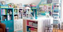Craft|Sewing Room Ideas / Here you will find loads of inspiration for Craft Room Decorating | Craft Room Makeovers | Craft Room Organization | Craft Room Storage | Craft Room Bulletin Boards | Craft Room Lighting | Sewing Room Decorating | Sewing Tables | Sewing Room Organization | Sewing Room Storage | Fabric Storage | Sewing Cutting Tables | Sewing Work SpaceI Ideas