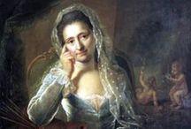Анна Розина де Гаск / Anna Rosina de Gasc / Анна Розина де Гаск (Anna Rosina de Gasc), урождённая Лисевска(я) (Lisiewska) (10.07.1713 — 26.03.1783) — немецкая художница-портретистка польского происхождения. Её младшая сестра Анна Доротея Тербуш-Лисевска (Anna Dorothea Therbusch-Lisiewska; 23.07.1721 — 09.11.1782) —  тоже художница (см. в другом альбоме). Их брат тоже был художником.