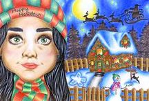 Yonkers Public Schools Annual Holiday Card / In keeping with long standing tradition, student art was the centerpiece of the District's annual holiday postcard.