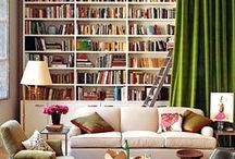 Interior Design & Libraries / Library spaces in homes.  Interesting interior design that works well with books.