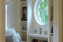 Book Nooks / Cozy nooks for lounging, reading, enjoying libraries.