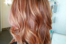 Copper & rose gold hairstyle