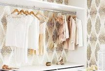 walk in closet / by Briny Sober Chic