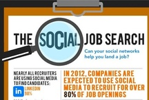 Infographics: job & ICT / all about e-recruiting, e-HR, social media and job