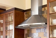 Ranges & Hoods / Wood hoods, metal hoods, stone hoods, and range ovens found in amazing kitchens... / by Kitchen Design Ideas
