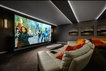 Home Theater Design Ideas / Inspiration and ideas for designing your own projector home theater curated from the best online resources.